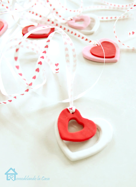 red, pink and white heart charms