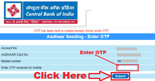 linking aadhaar card to central bank of india