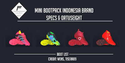 PES 2017 Mini Bootpack Indonesia Brand by FuyuPES17 Boots