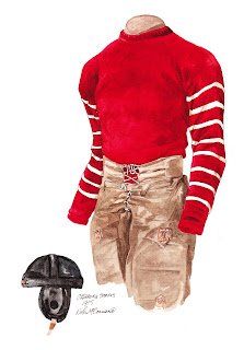 1915 University of Oklahoma Sooners football uniform original art for sale