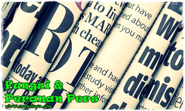 Fungsi dan Peranan Pers | www.zonasiswa.com