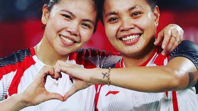 Ganda Putri Indonesia Greysia Polli- Apriyani Rahayu berhasil menyabet medali emas Olimpiade Tokyo 2020