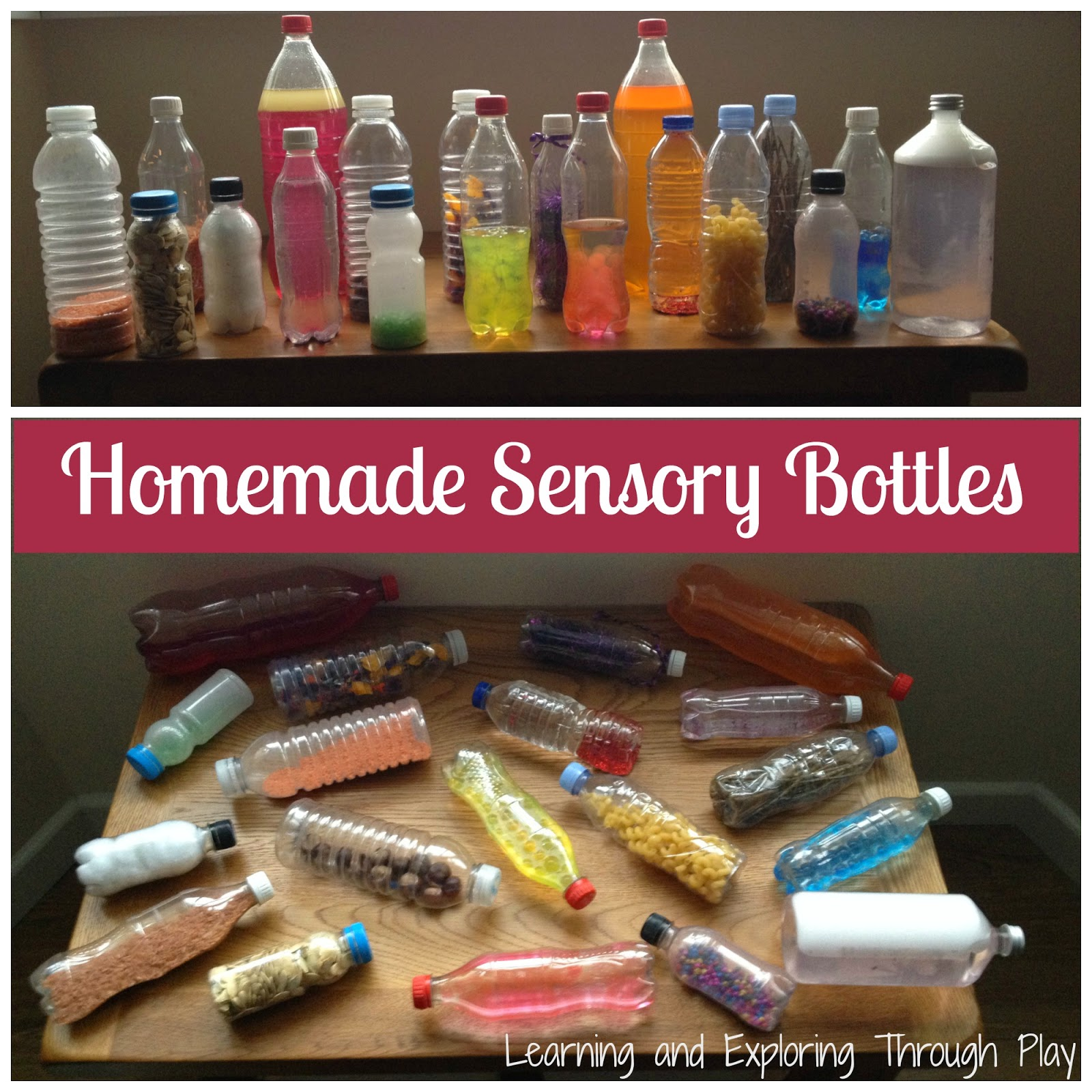 Sensory Bottles for children.