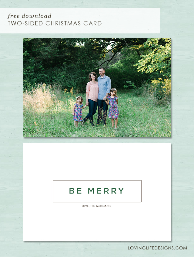 2 Sided Photo Christmas Cards