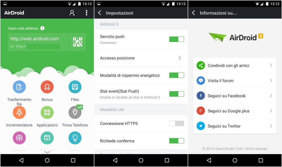 AirDroid 3 su Android