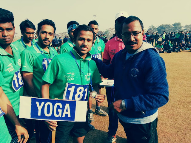 Manish Arya of Faridabad has received a huge welcome on the Ghadar flag, homecoming in Yoga