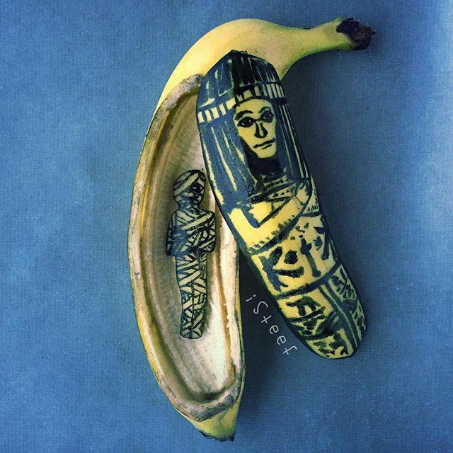 lukisan media pisang paling kreatif unik lucu dan menakjubkan-22