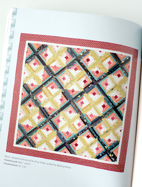 Blaze quilt from the book I Love Log Cabins from Martingale