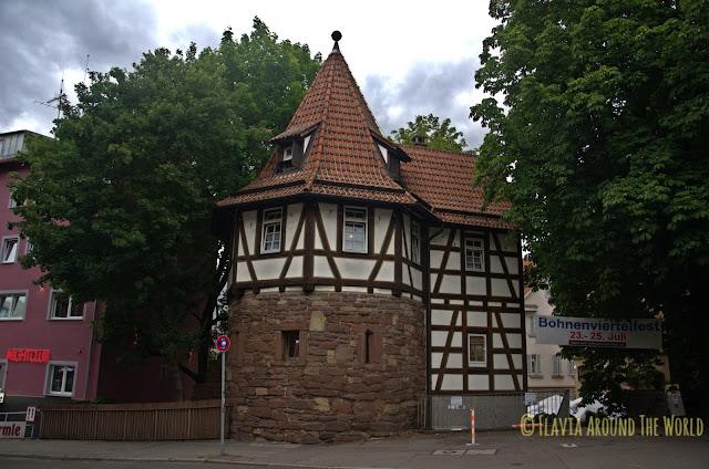 Schellenturm en el Bohnenviertel Stuttgart