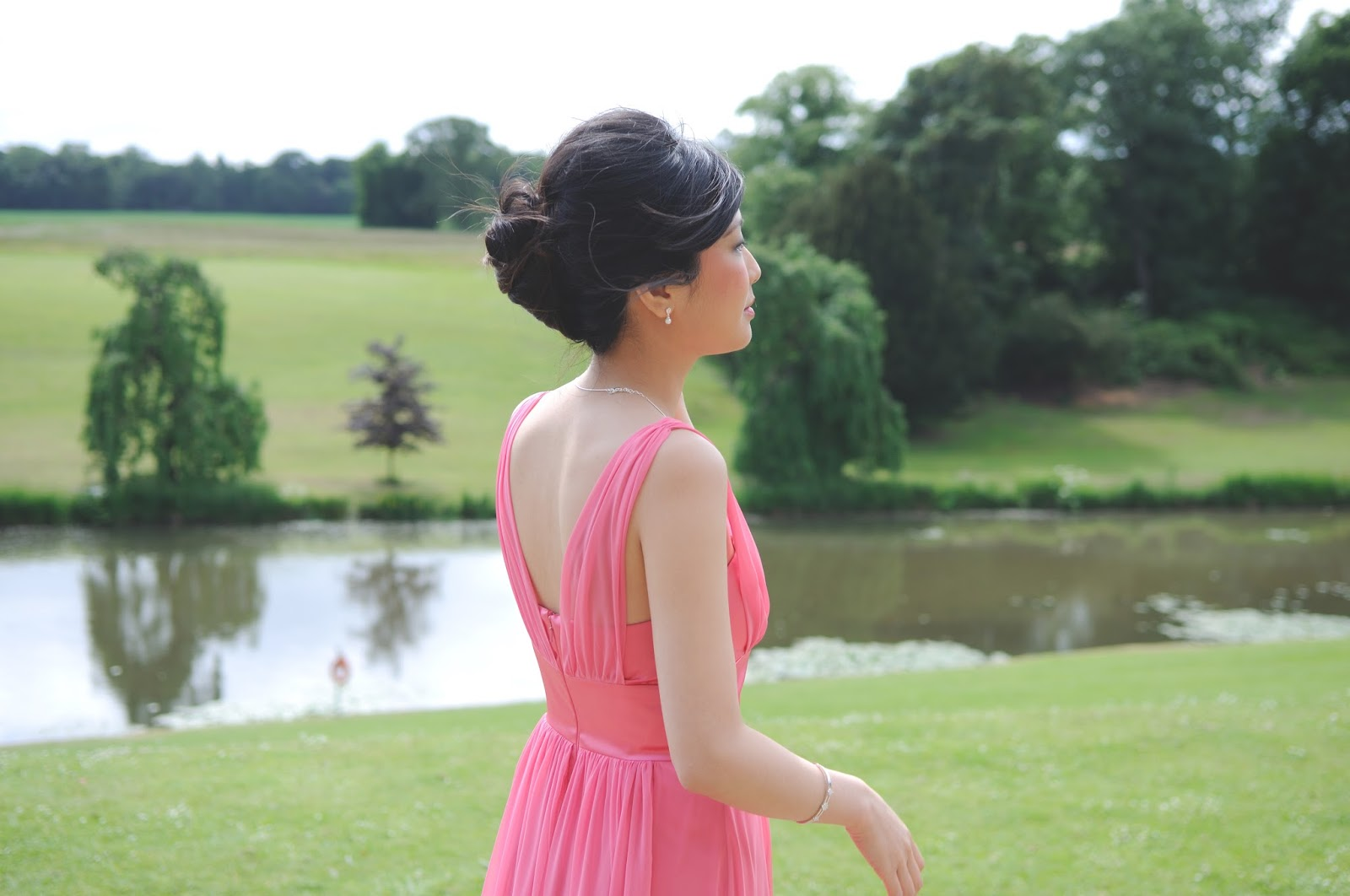 pink bridesmaids dress, summer wedding