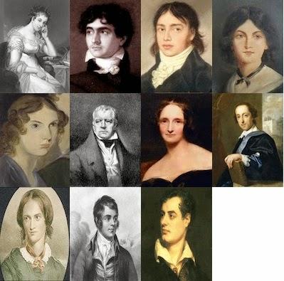 les auteurs romantiques anglais les plus lus dans le challenge romantique