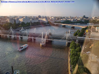 Vistas del Hungerford Bridge desde el London Eye