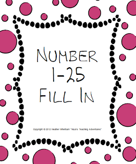 Number 1-25 Fill In