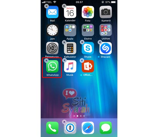 cara keluar dari whatsapp di iphone