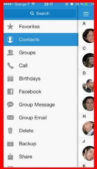 sync contact facebook iphone