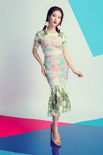 Diễm my 9x quyến rũ gợi cảm với loạt váy ren trong suốt tinh t1ế