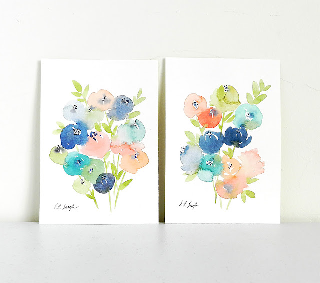 Original Pastel Spring Flowers Paintings by Elise Engh