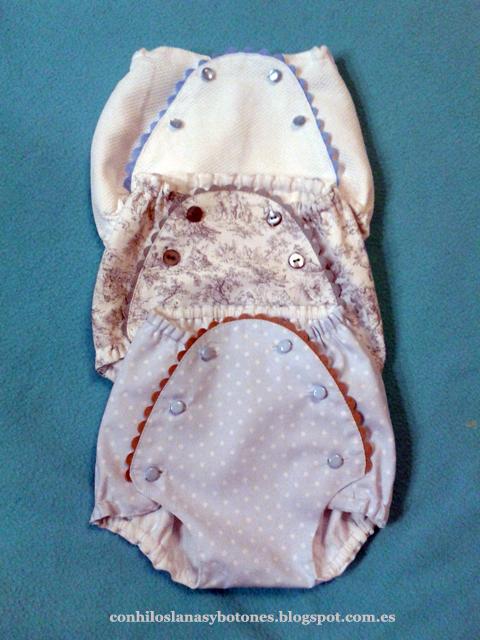 Conhiloslanasybotones - Ranitas o cubrepañales de bebé