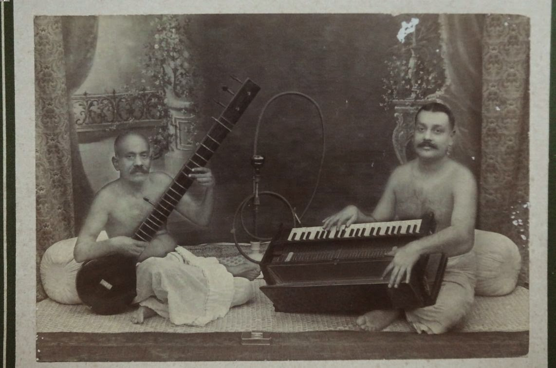 Two Indian Musicians - Vintage Undated Photograph