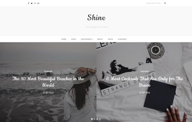 Shine Blogging Theme