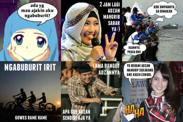 Gambar Lucu Ngabuburit Untuk DP BBM Bergerak Buka Puasa Ramadhan