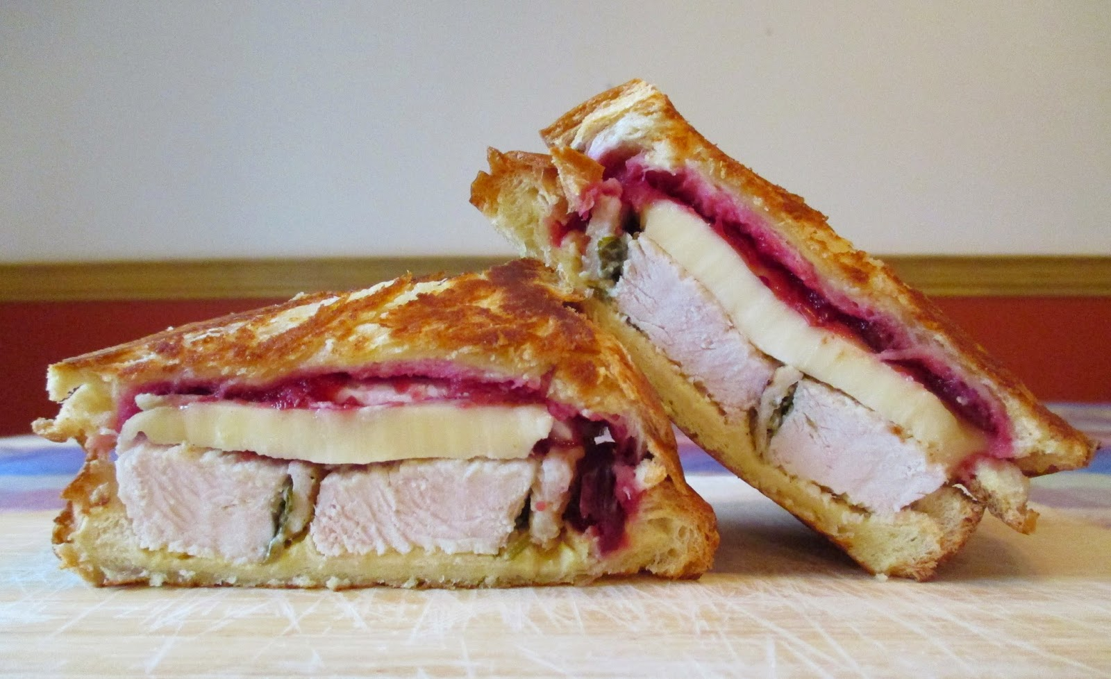 Grilled Turkey, Cranberry and Brie Sandwiches