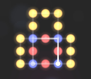 Solution, Cheats, Walkthrough for Neon Hack [Neon Dots] Level 53