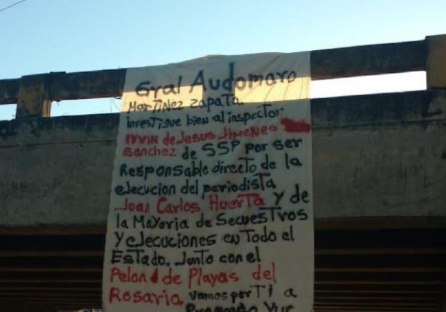 En Narcomanta grupo armado de sicarios le manda mensaje directo a Andres Manuel Lopez Obrador