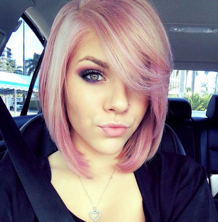 Bob Haircuts In Pink Shades The HairCut Web