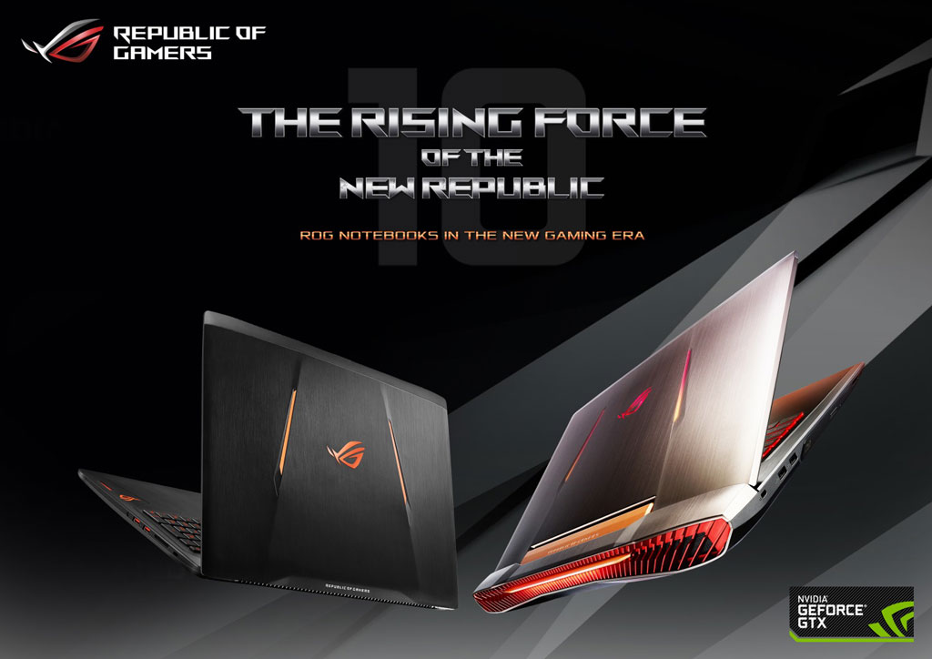 ASUS ROG Strix GL502VS-FY058T and ROG G752VS-GB094T with with NVIDIA GTX 10-Series graphics