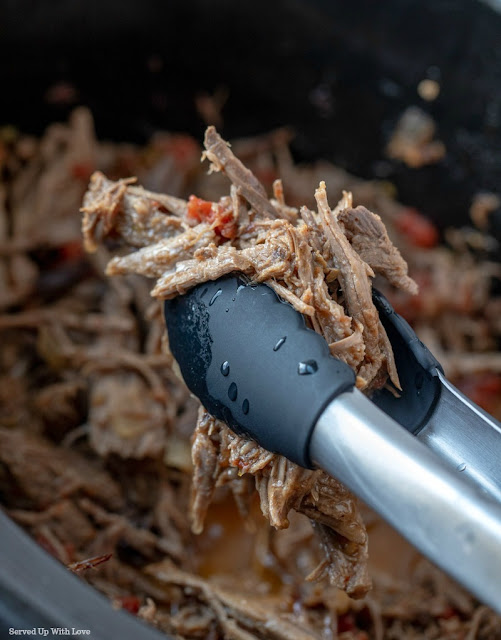 Shredded Beef Tacos in the Crock Pot from Served Up With Love