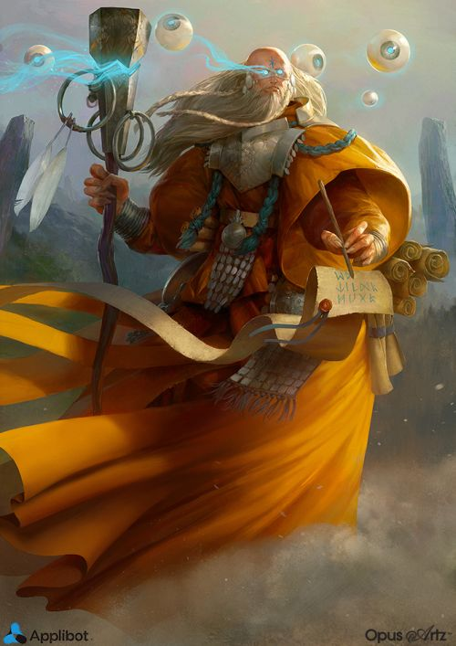 Bjorn Hurri ilustrações artes conceituais fantasia games Applibot - Celestial Wanderer Advanced