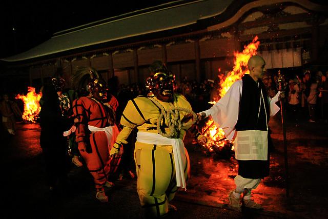 Oni-Oi-Shiki (Devil Dance Festival) at Enryakuji Temple, Hieizan, Shiga Pref.