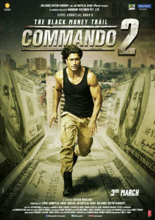Poster of Commando 2 (2017) Full Hindi Full Hindi Movie Download DVDRip 720p