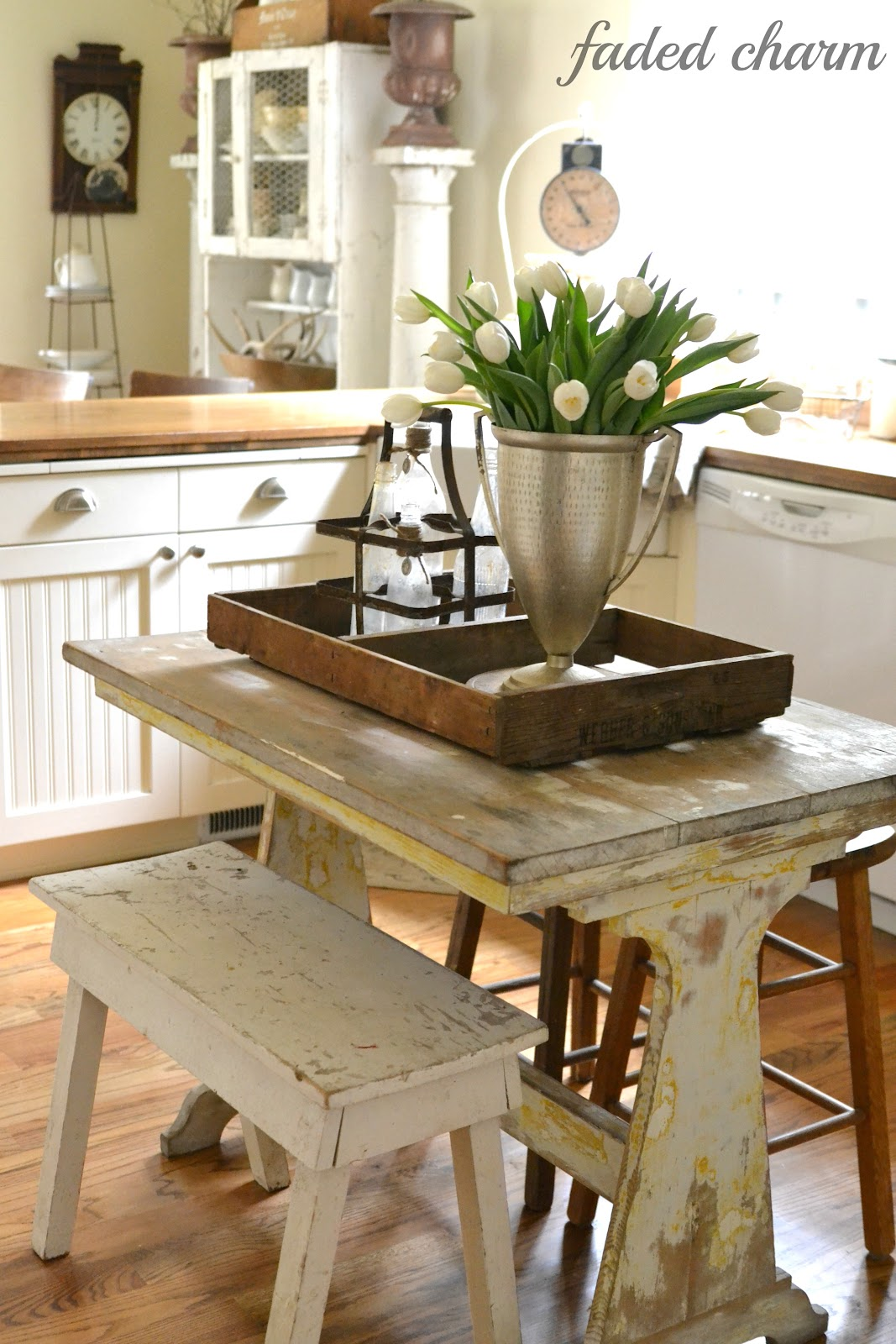 Small Kitchen Decorations Dining Room Furniture Cozy: Faded Charm: ~Tulips In The Kitchen~