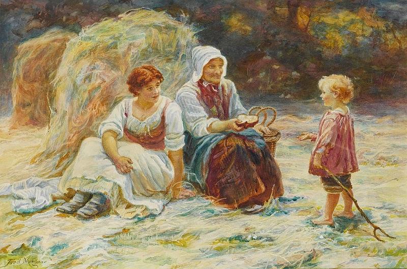 Sobra do Almoço - Frederick Morgan e suas pinturas ~ Pintor de cenas da infância