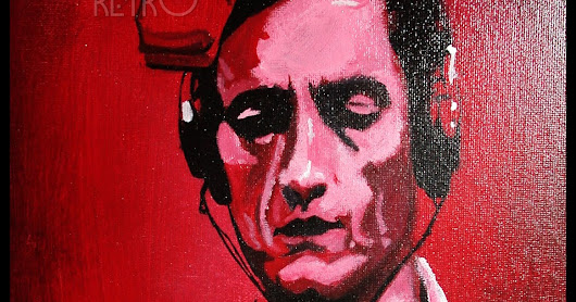 Johnny Cash iCONS DESIGNS Pop Art Acrylic Painting