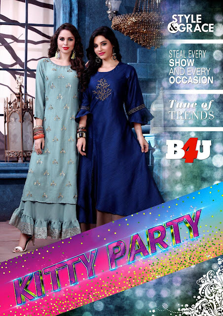B4U kitty Party kurtis Catalog wholesaler