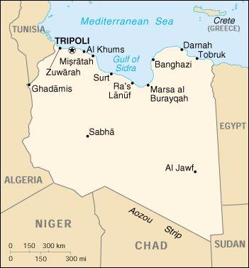 Cartina Muta Libia Tomveelers