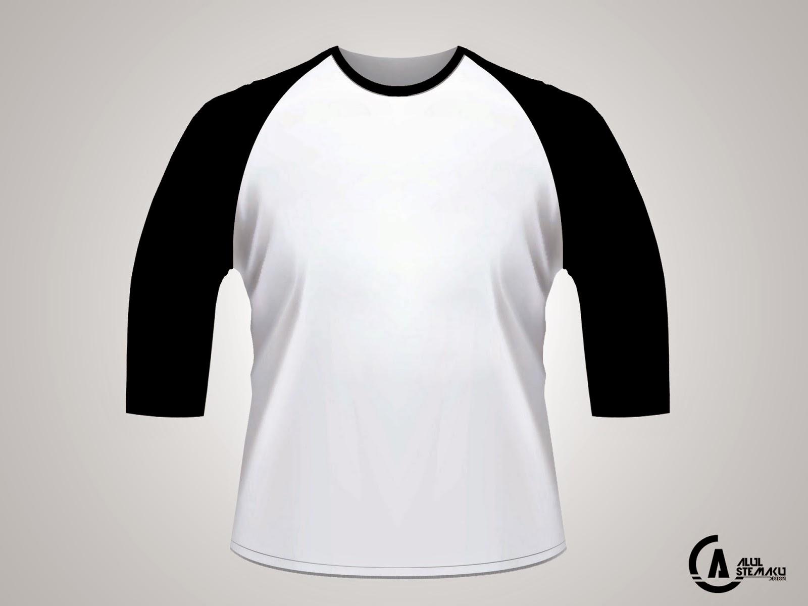 Download Gambar Desain Kaos Lengan 3 4 PSD Alul Stemaku