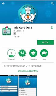 Salam semangat buat Guru dan Tenaga Kependidikan di Seluruh Indonesia Cara Instal Aplikasi Info Guru 2018 di HP/Smartphone