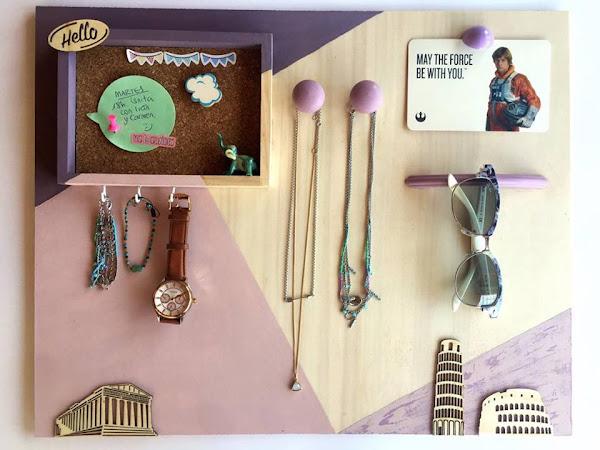 DIY: soporte decorativo para joyas, fotos y complementos.