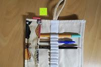 Stifte: Damero Rollentasche für Gelstift Schreibzubehör gerollter Halter mit Leiwand für Buntstift Reiseorganisator-Beutel für Künstler, Mehrzweck (keine Bleistifte im Lieferumfang enthalten), 48 Löcher, Katzen