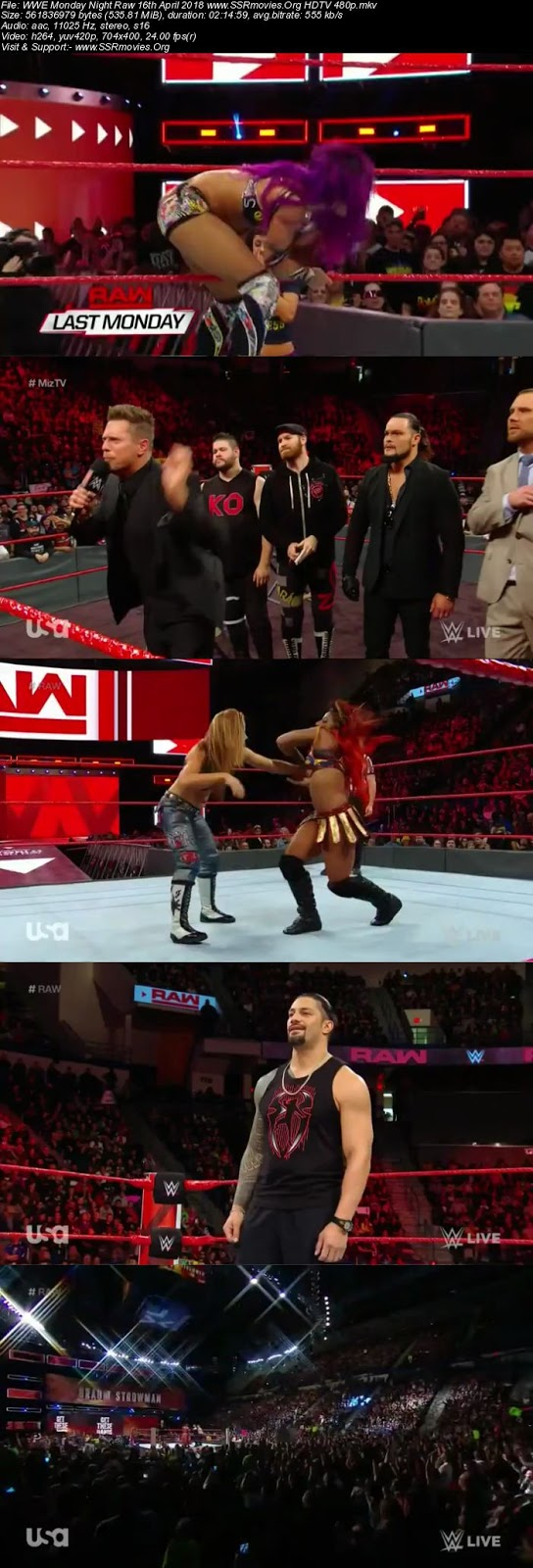 WWE Monday Night Raw 16th April 2018 HDTV 480p