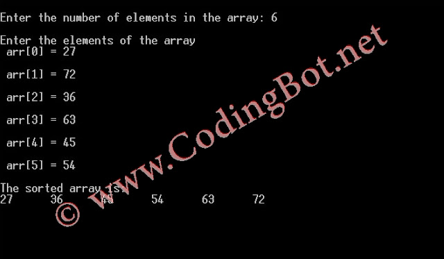 Selection Sort Algorithm And C Code