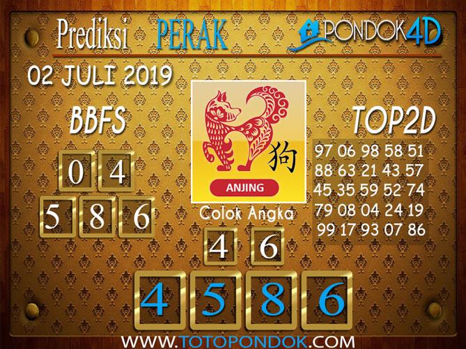 Prediksi Togel PERAK PONDOK4D 02 JULI  2019