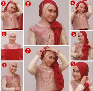 Foto Tutorial Hijab Untuk Kebaya