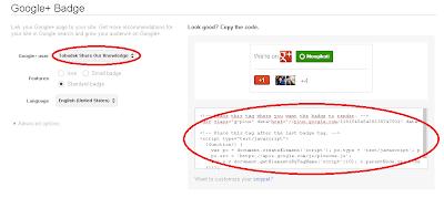 Cara Memasang Lencana Fans Page Google+ di Blog 4