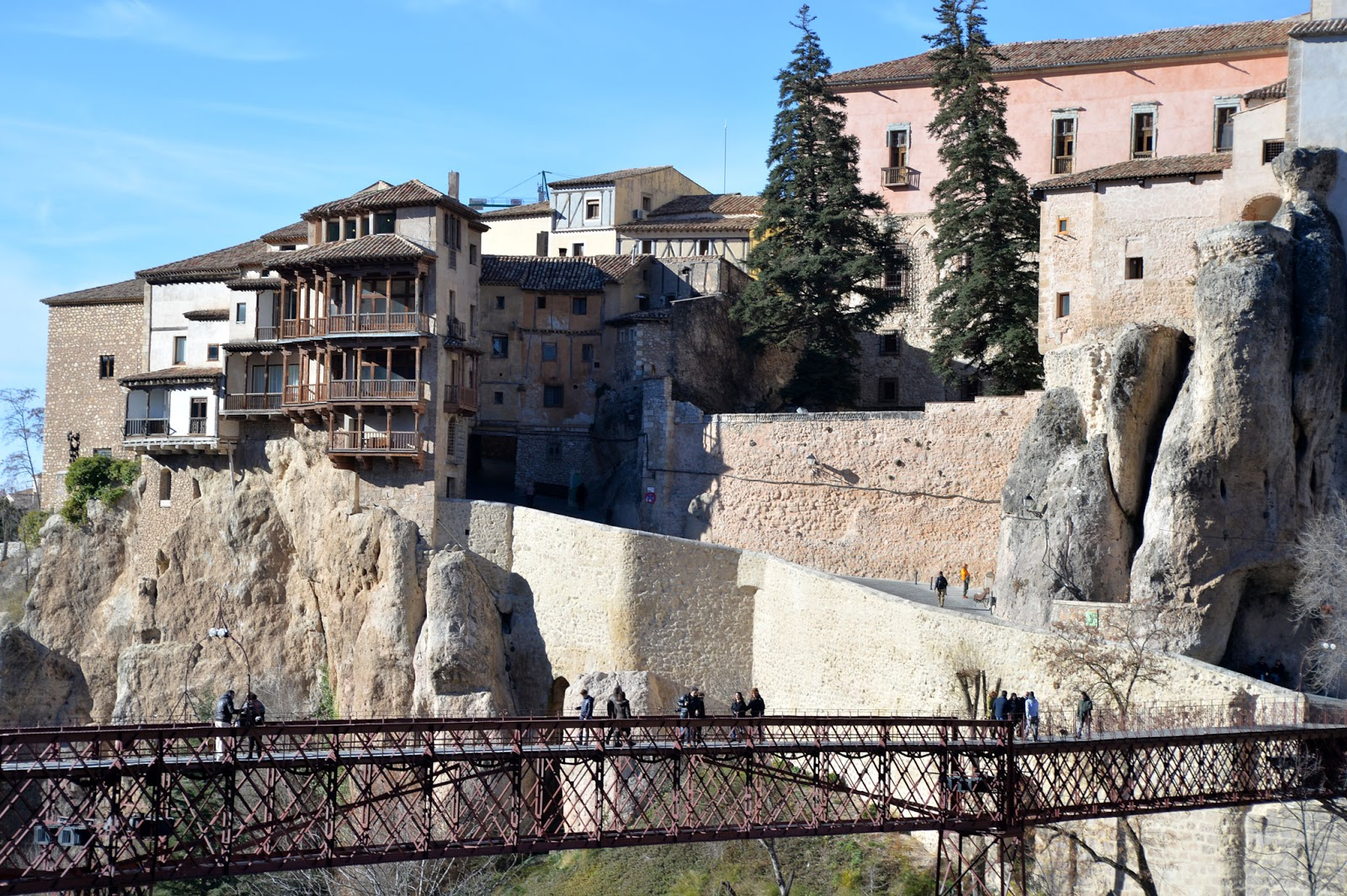 cuenca spain winter hanging houses