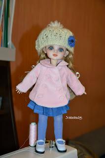 шуба, пальто для куклы